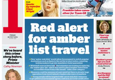 The i - 'Red alert for amber list travel'
