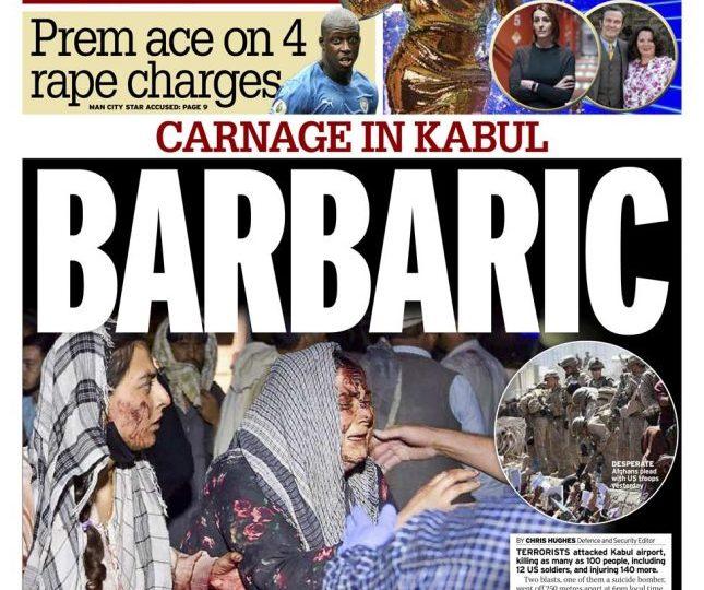 Daily Mirror - 'Carnage in Kabul: Barbaric'