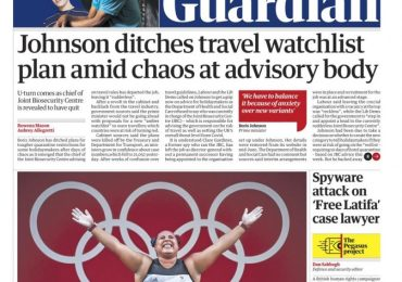 The Guardian - 'PM ditches travel watchlist'
