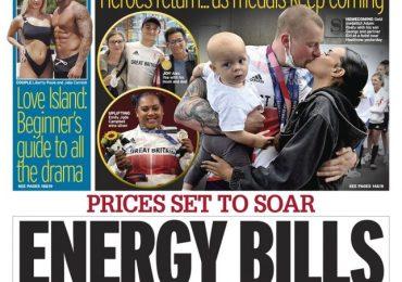 The Daily Mirror - 'Energy bills sickener'