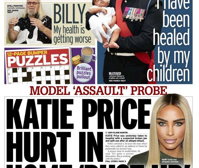 Daily Mirror - 'Katie Price hurt in home bust-up'
