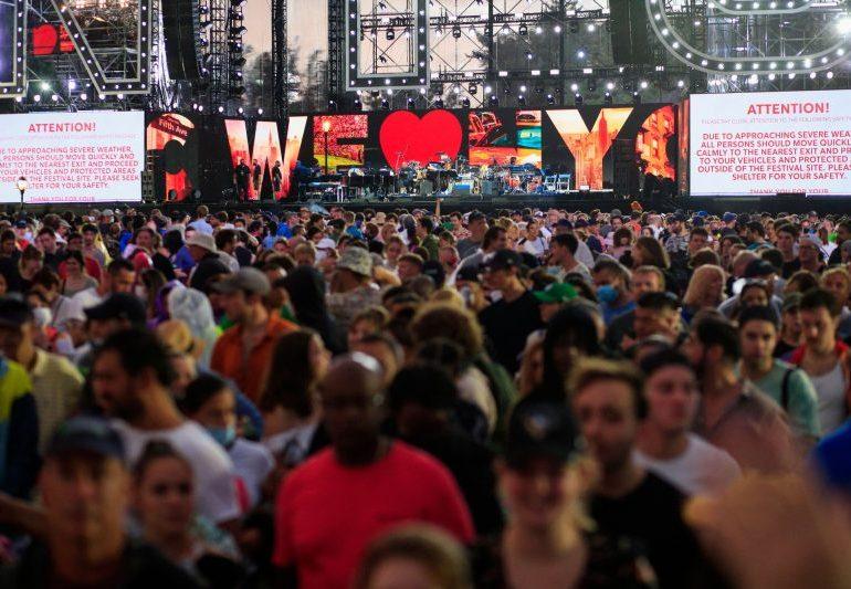 Hurricane Henri cuts short New York Covid-19 recovery concert