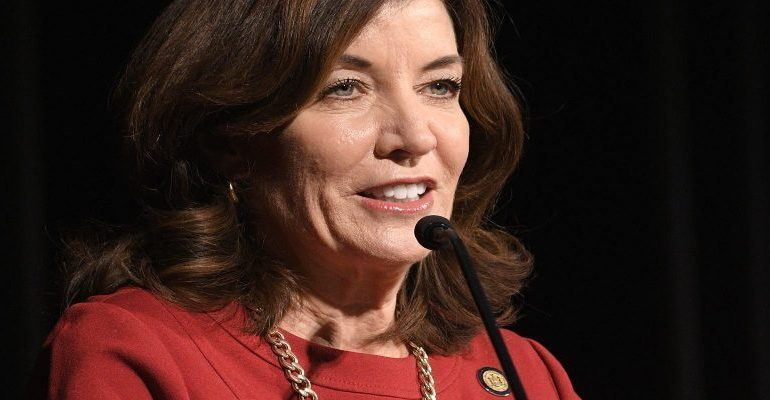 Kathy Hochul sworn in as first female governor of New York state
