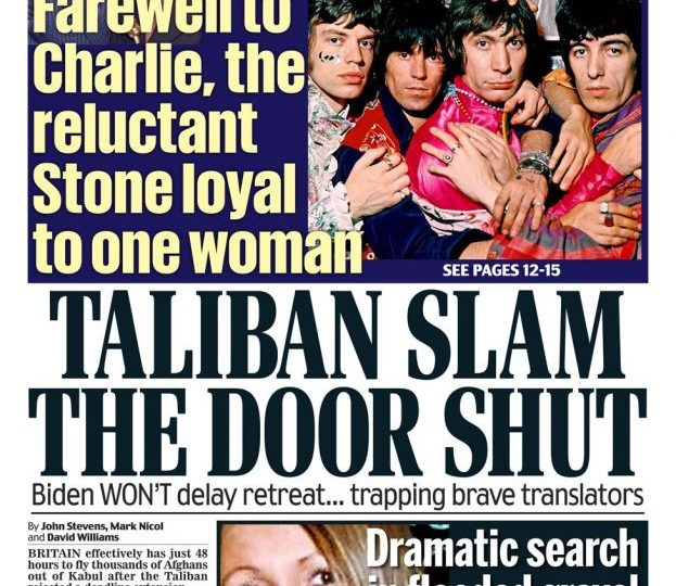 The Daily Mail reports Joe Biden's decision - but its story also points out that the Taliban rejected a deadline extension.