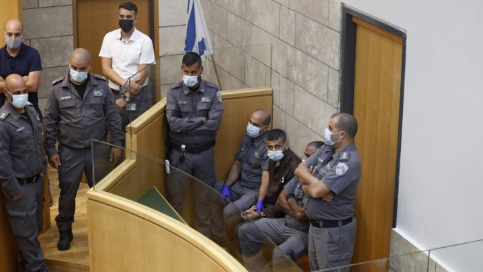 Four recaptured Palestinians appear in Israeli Occupation court