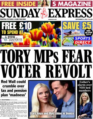 Conservative party tories PM boris johnson nhs national insurance tax increase prince charles princes trust vaccine coronavirus