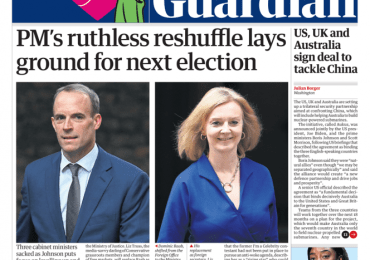The Guardian - 'Ruthless reshuffle, lays ground for election'
