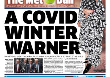 The Metro - 'A Covid winter warner'