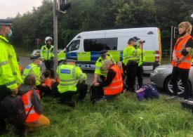 Protesters block M25 for the third time this week