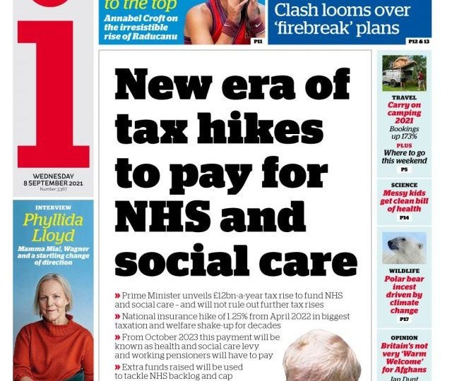 The i - 'New era of tax hikes to pay for NHS'