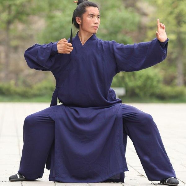 Traditional Daoist Wudang Uniform Blue