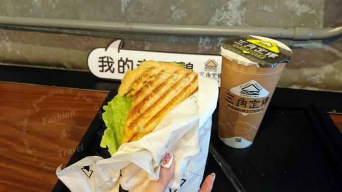 三角定律,三明治帕里尼咬一口就讓人驚豔的土司口感@羅東夜市 @吳大妮