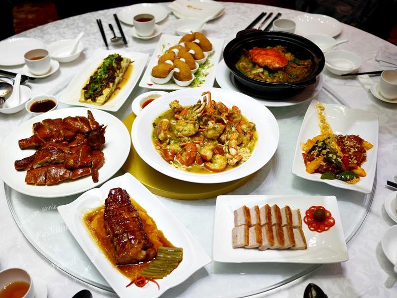 香港銅鑼灣美食推薦,大三圓酒家活海鮮料理,港式燒臘通通吃的到,大推脆皮燒雞蜜汁叉燒