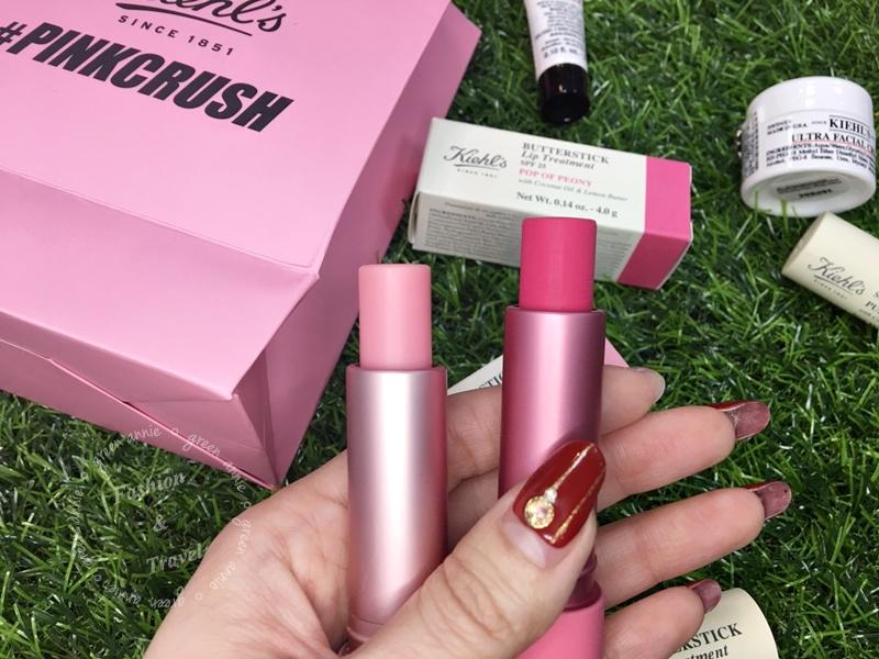 Kiehl's粉紅風潮PinkCrush檸檬奶油護唇膏新色「亮桃紅」與「櫻花粉」