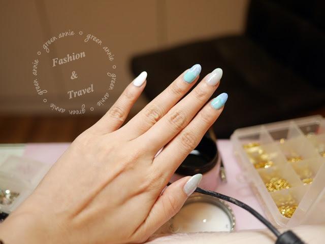 【美甲】海洋風手部凝膠指甲VS.浪漫花朵感凝膠指甲 @吳大妮。Annie