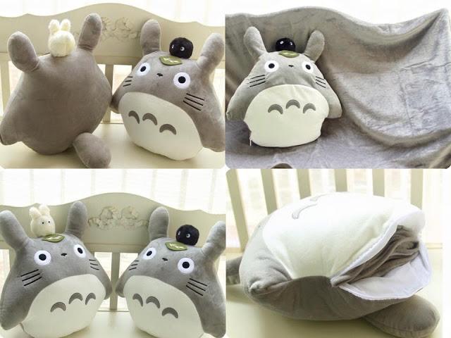 【生活】療癒小物~可愛的龍貓抱枕+小毛毯 @吳大妮。Annie