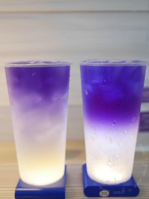 今夏必喝飲品~台灣雷夢~來杯夢幻清涼飲品蝶豆花~利用無限創意及蝶豆花做出銀河系飲料~台北現在也喝的到 @吳大妮。Annie