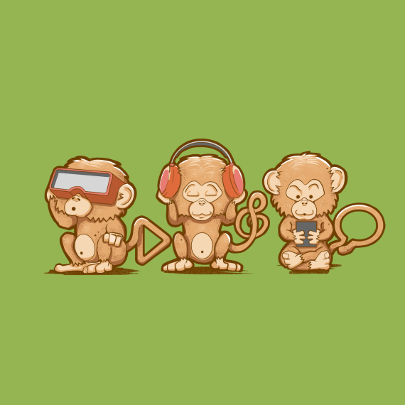 Three Modern Monkeys