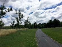 Salah satu pemandangan di sepanjang bike path di Lake Burley Griffin