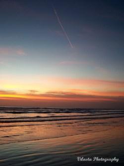 sunset in Kuta Beach