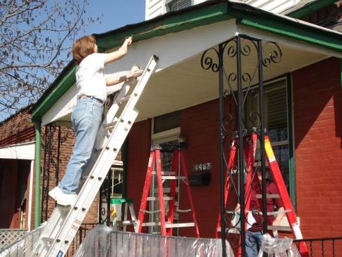 Rebuilding roofs is an important part of historic home stabilization.