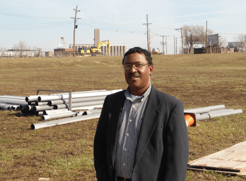 Craig Nashville stands in front of the future Chouteau Park in FPSE.