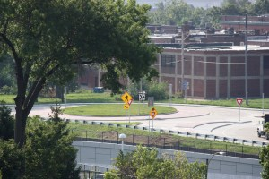 The new roundabout located at Tower Grove and Papin Avenue