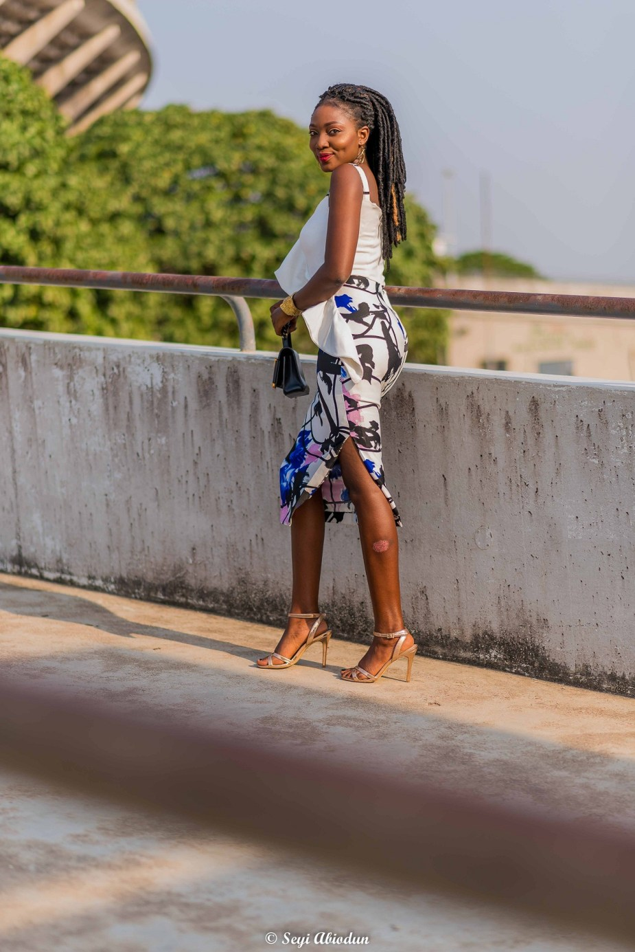 Party outfit inspiration Nigerian style blogger Wumi Tuase White midi dress