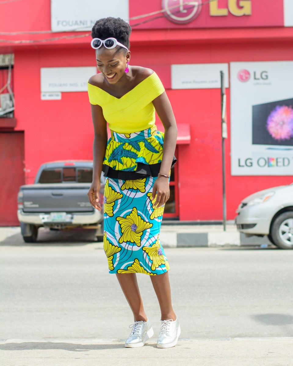 A Colorful Take On Ankara Pinafore- SGTC X WUMI