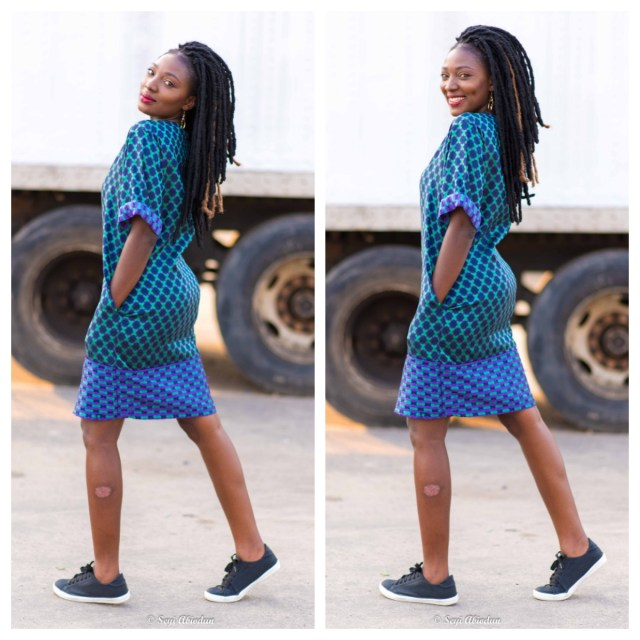 Print Shift Dress| 3 easy ways to style. Nigerian fashion blogger Wumi Tuase