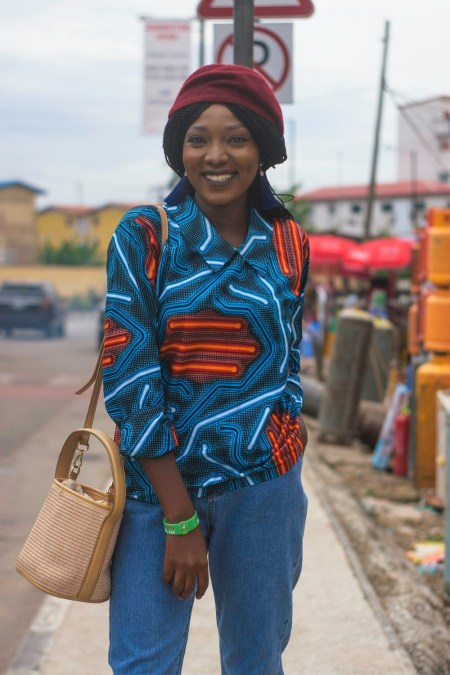 Nigerian Fashion Blogger Wumi Tuase Casual Street Style In Ankara Blouse