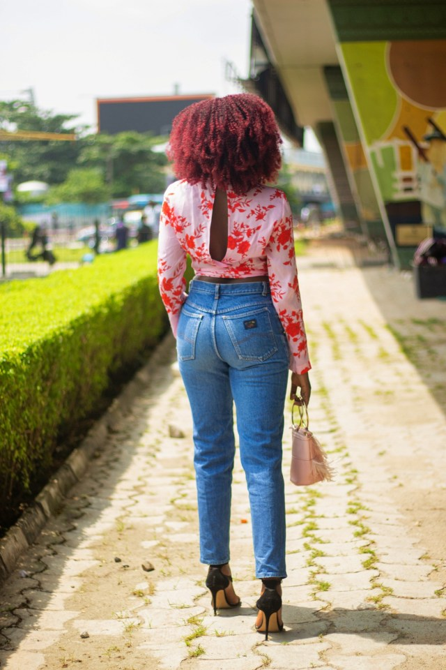 Pink split back top style blogger Wumi 'Tuase