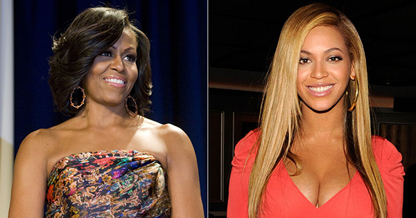 Michelle Obama and Beyonce