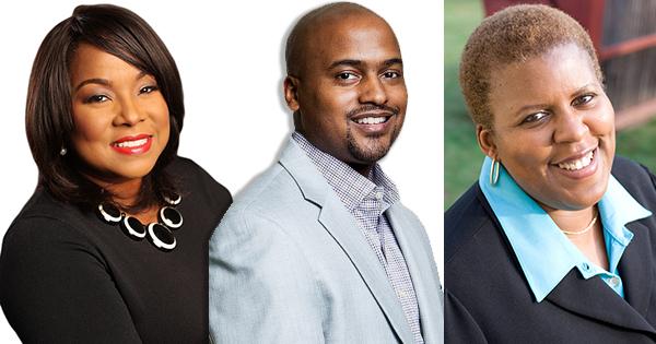 Bloggers Melinda Emerson, Lamar Tyler, and Deborah A. Bailey