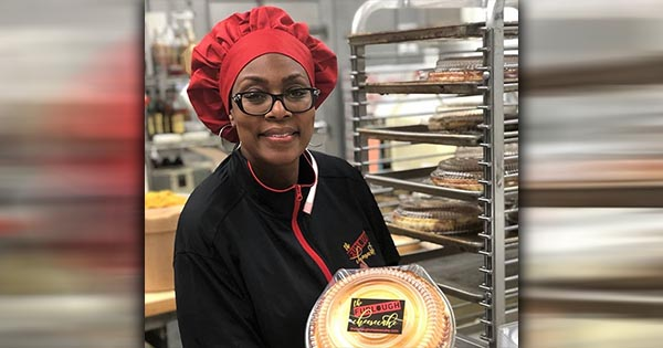 Worker at the Furlough Cheesecake company