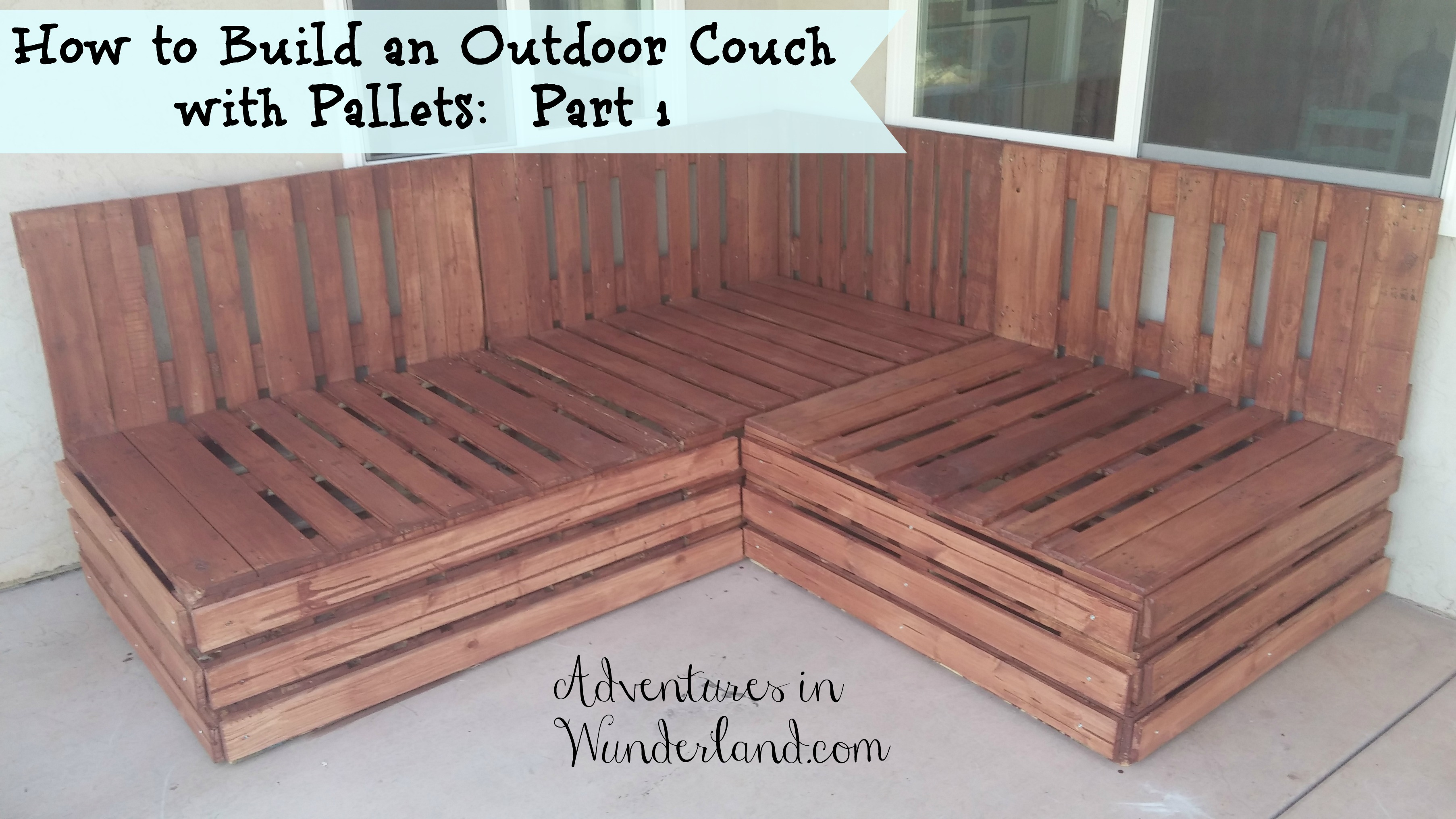how to build an outdoor couch with