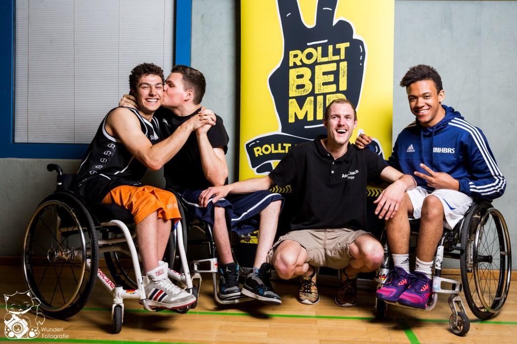 Nico, Marvin, André & Marcel - Rollstuhlbasketball Jugend