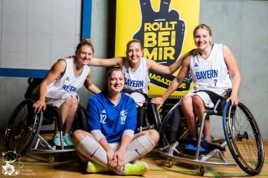 Laura, Katharina, Luca & Svenja - Rollstuhlbasketball Jugend