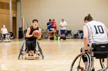 Baden-Württemberg/Rheinland-Pfalz gewinnt das Spiel um Platz 5 gegen Niedersachsen mit 34:39. Kuhberghalle Ulm, Deutschland.