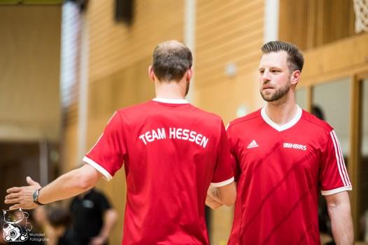 Hessen entscheidet das Spiel um Platz 3 gegen NRW mit 55:40 für sich. Kuhberghalle Ulm, Deutschland.