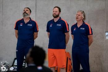 Die Herren des Team Germany gewinnen das Testspiel in Köln gegen die Herren aus den Niederlanden mit 67:57.
