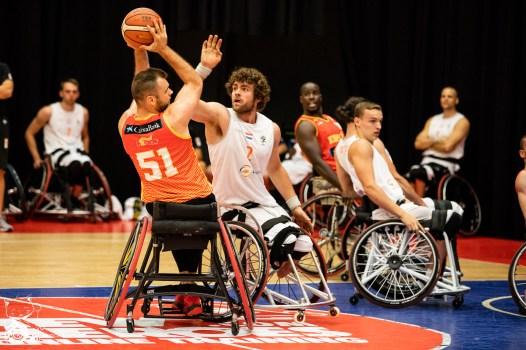Das Team aus Spanien gewinnt das zweite Halbfinale des Dutch Battles 2018 gegen das Team aus den Niederlanden mit 45:62. Nieuwegein, NL