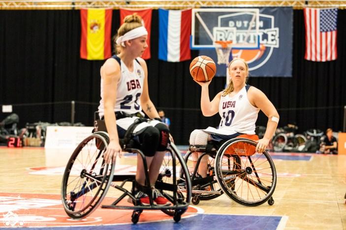 Das Team GB schlägt das Team USA mit 36:59 am Samstag des Dutch Battles 2018. Nieuwegein, NL