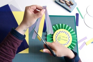 DIY - Cocarde papier coupe bandes- Wundertute