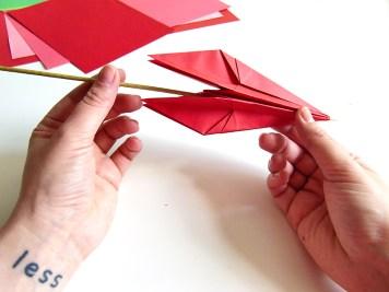 DIY - Fleurs en papier tiges fleur- Wundertute