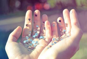 4 - glitter heart - wundertute