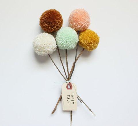 1 - fleurs pompoms
