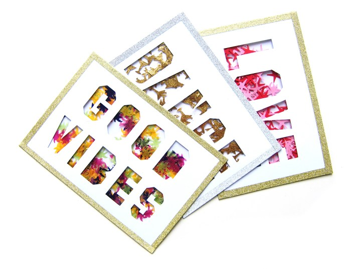 DIY - carte confetti trio - Wundertute