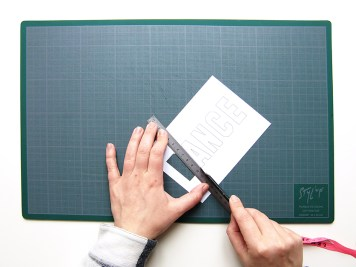 DIY - carte confetti typo - Wundertute