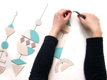 DIY mobile geometrique 9 C - wundertute